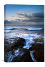 Gullane Bents Rocks, Canvas Print