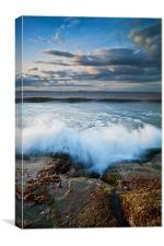 Gullane Bents Waves Breakin, Canvas Print