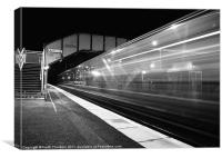 Midnight Express Train, Canvas Print