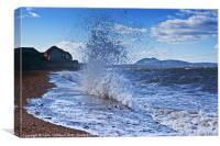 Prestonpans Wave Breaker, Canvas Print