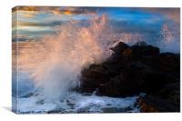 Wave Breaker, Canvas Print