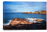 Dunbar Harbour, Canvas Print