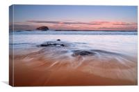 Bass Rock from Tantallon Beach, Canvas Print