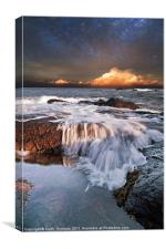 Dunbar Evening Sea Waves, Canvas Print