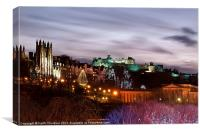 Edinburgh Xmas Festival, Canvas Print