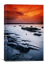 Seton Sands Sunset, Canvas Print