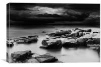 Moody Rocky Coast, Canvas Print