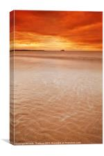 West Barns Beach, Canvas Print