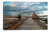 West Barns Beach Bridge, Canvas Print