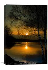 Lagoons Sunset, Canvas Print