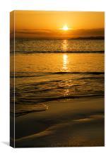 Yellowcraig Beach Sunrise, Canvas Print