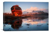Ben Nevis with Old Boat, Canvas Print
