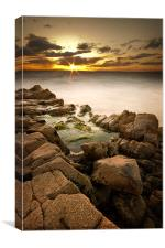 Rocky Sunset, Canvas Print