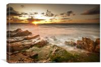 Brown Rocky Sunset, Canvas Print