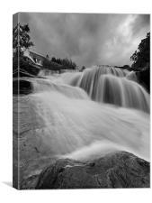 Falls of Douchart, Canvas Print