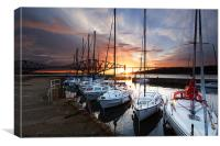 South Queensferry Harbour, Canvas Print