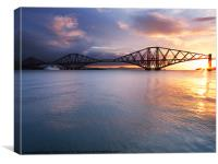 Sunrise over the Forth., Canvas Print