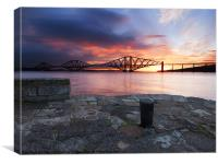 Forth RailBridge Sunrise, Canvas Print