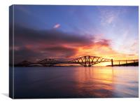 Forth Rail Bridge Sunrise, Canvas Print