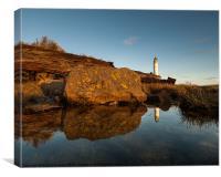 Barns Ness Lighthouse, Canvas Print
