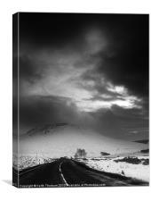 Highlands Road., Canvas Print
