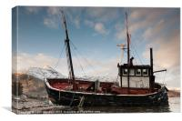 Shipwreck on Loch Linnhe, Canvas Print