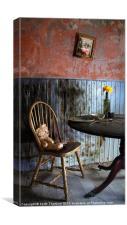 Teddy Bear Dinner, Canvas Print