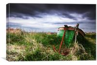 Aberlady Bay Boat, Canvas Print