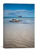 Bass Rock and Beach, Canvas Print