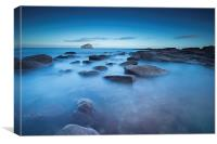 Smooth Bass Rock, Canvas Print