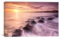 Sunrise at Dunbar, Canvas Print