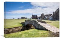 St Andrews 18 Hole, Canvas Print