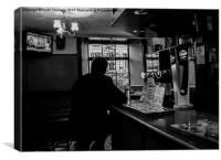 Pint for one, Canvas Print