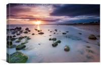 Morning sunset over Musselburgh, Canvas Print