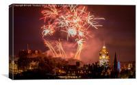 Edinburgh Festival Fireworks, Canvas Print