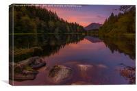Loch Lochan Sunrise, Canvas Print