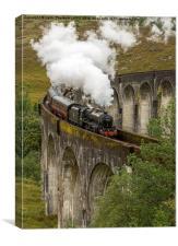 Glefinnan Viaduct Train, Canvas Print