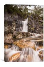 Waterfall At Glen Nievis, Canvas Print