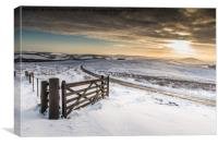 Lammermuir Hills Winter Scenes, Canvas Print