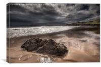 Coldingham Bay Beach, Canvas Print