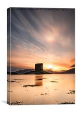 Castle Stalker at Sunset, Canvas Print
