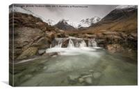 Fairy Pools of River Brittle, Canvas Print