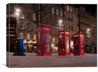 BT Red Phone Boxes, Canvas Print