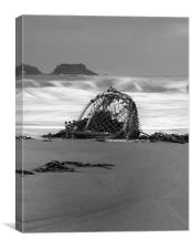 Crab Basket drifting, Canvas Print