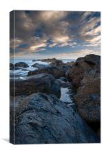 Rocks and sea, Canvas Print