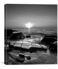 BW Rocky Sunset, Canvas Print