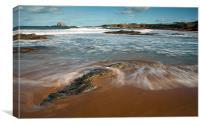 Beach at North Berwick, Canvas Print