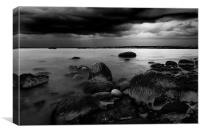 The rain is there bw, Canvas Print