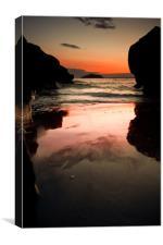 Framed Rock Sunset, Canvas Print