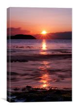 Sunset over Fidra Island, Canvas Print